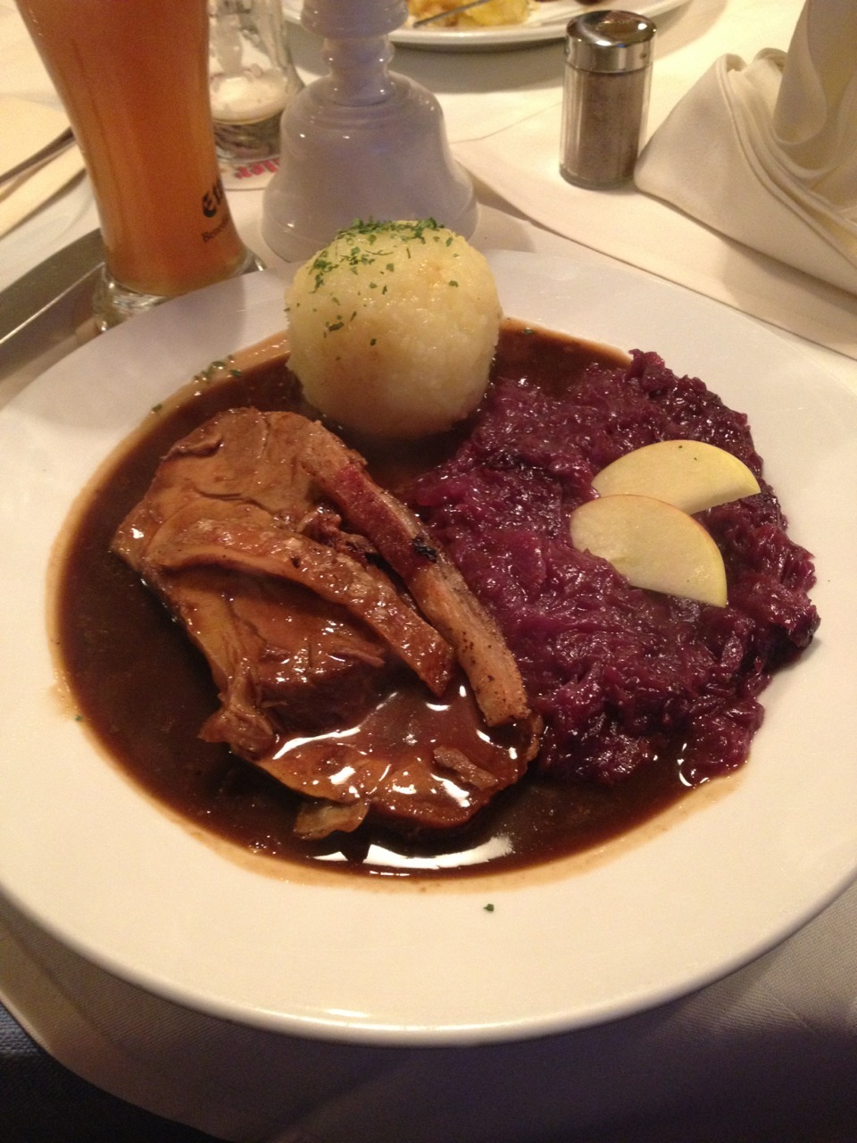 Traditional Bavarian meal Ky had last night.