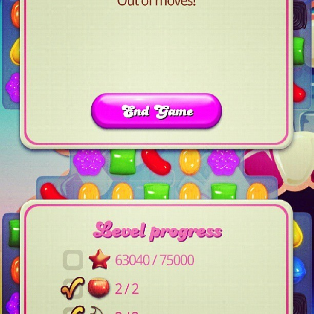 Out of Moves! #CandyCrushSaga had all the fruits but not enough points!