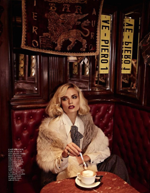 "Natasha Poly in ""La Dolce Vita"" Photographed By Mariano Vivanco & Styled By Sara Fernández Castro For Vogue Spain, November 2011"