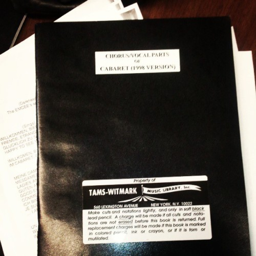 1st rehearsal. Table read.