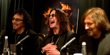 Sabbath at a press conference, Auckland.