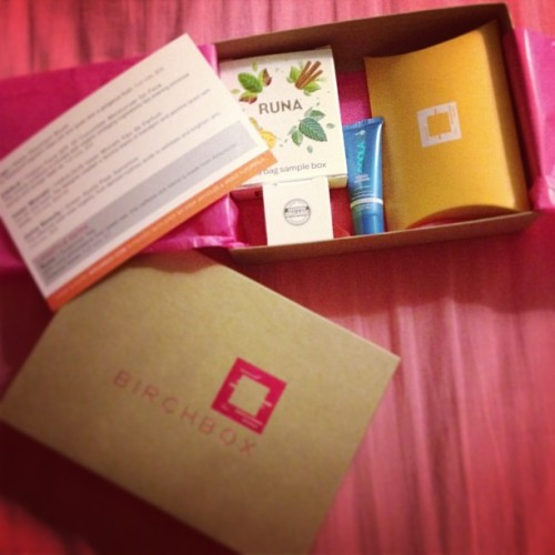 Got my first #Birchbox. COOL.