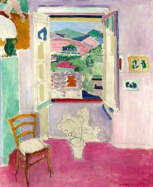 dappledwithshadow:  The Open Window, Henri Matisse 1911