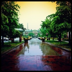 UNCG on a rainy day