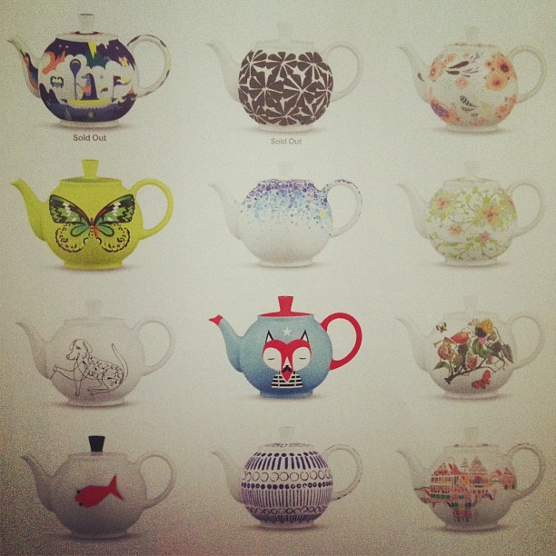 Look at these limited edition teapots from #crateandbarrel!!!!