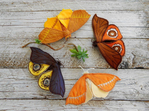 crafts handmade brooches moths