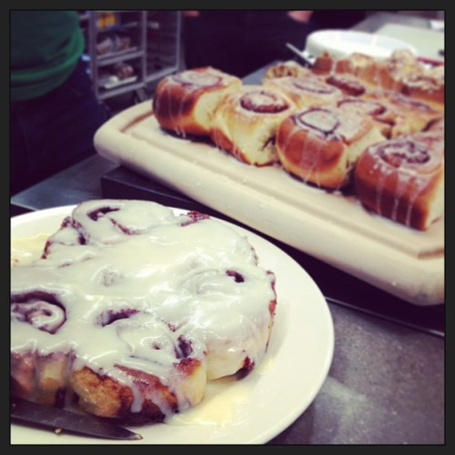 This Cook's Country Cinnamon Roll tasting is about to get really sticky. (A live Instagram snapshot from the Test Kitchen. http://instagr.am/p/WAIdUdrka0/)