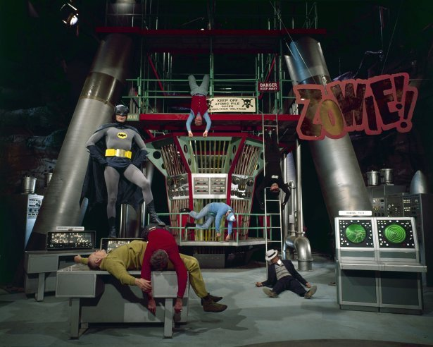 life:  Not originally published in LIFE. On the set of Batman, 1966.  (Photo: Yale Joel—Time & Life Pictures/Getty Images)