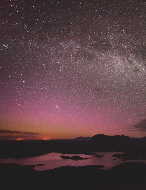 Milky Way over Assynt by Alex Nail, Scotland