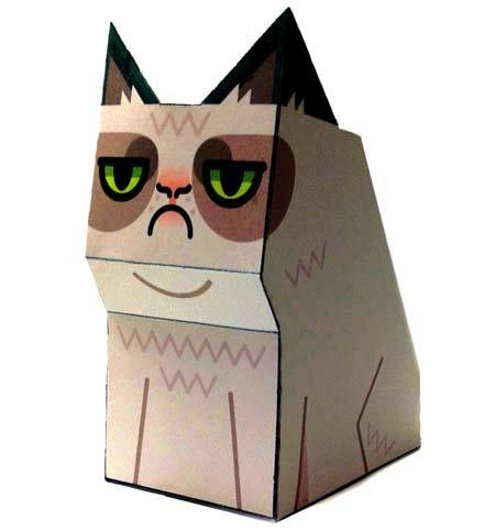 magicfran crafts:   Grumpycat papercraft by Tubbypaws Click here for the cutout.