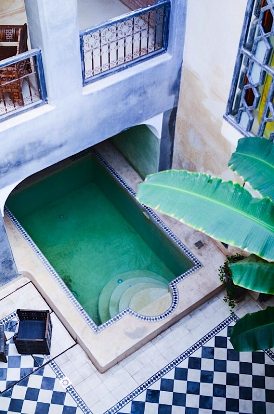 | ♕ |  Moroccan patio - Riad Alamir in Marrakech  | by © Audrey