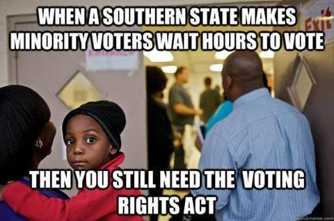 liberalsarecool:  When a southern state makes minority voters wait hours to vote…..
