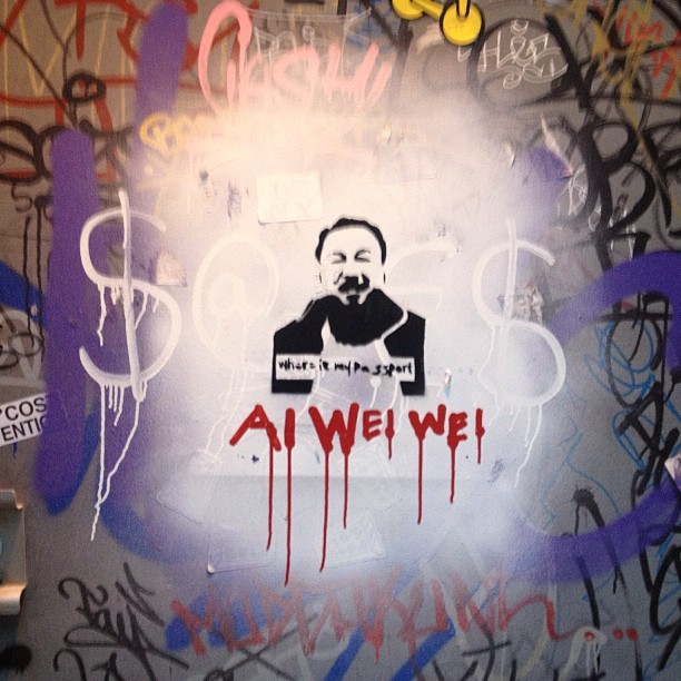 #aiweiwei #wheresmypassport #graffiti #westway  (at The Westway)