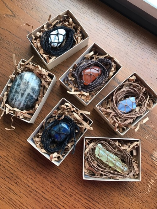 crystals Etsy shop handmade crystal necklaces small business crystal shop eco friendly eco packaging eco packing supplies hippie hemp jewelry hippie style boho free spirit