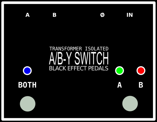Transformer isolated passive A/B Y switch.  Equipped with high quality transparent sounding Amplimo transformer,phase invert switch and Neutrik connectors. Battery powered or 9V DC adapter. (only for the LED's)