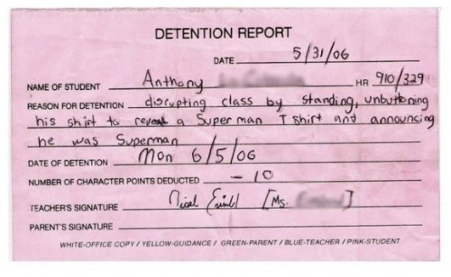 Checkout the Funniest Detention Slips Here: