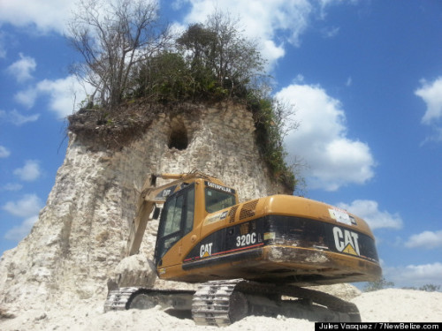 "selchieproductions:  moclachanbhernard:  breakingnews:  Bulldozer destroys Mayan pyramid in Belize AP:   A construction company has essentially destroyed one of Belize's largest Mayan pyramids with backhoes and bulldozers to extract crushed rock for a road-building project, authorities announced on Monday. The head of the Belize Institute of Archaeology, Jaime Awe, said the destruction at the Nohmul complex in northern Belize was detected late last week. The ceremonial center dates back at least 2,300 years and is the most important site in northern Belize, near the border with Mexico.   *high pitched keening*  ""Development"""