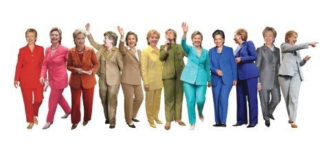 muffpunch:  Someone on reddit made a Hilary pantsuit rainbow. Magnificent. (via)