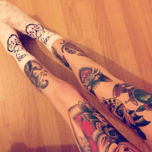 tattoodlove:  my boss > yours purely because she bought me hello kitty socks 😻 - @charlottebiggs- #webstagram