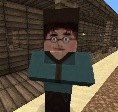 So I'm pretty sure this villager is actually Harry Potter.