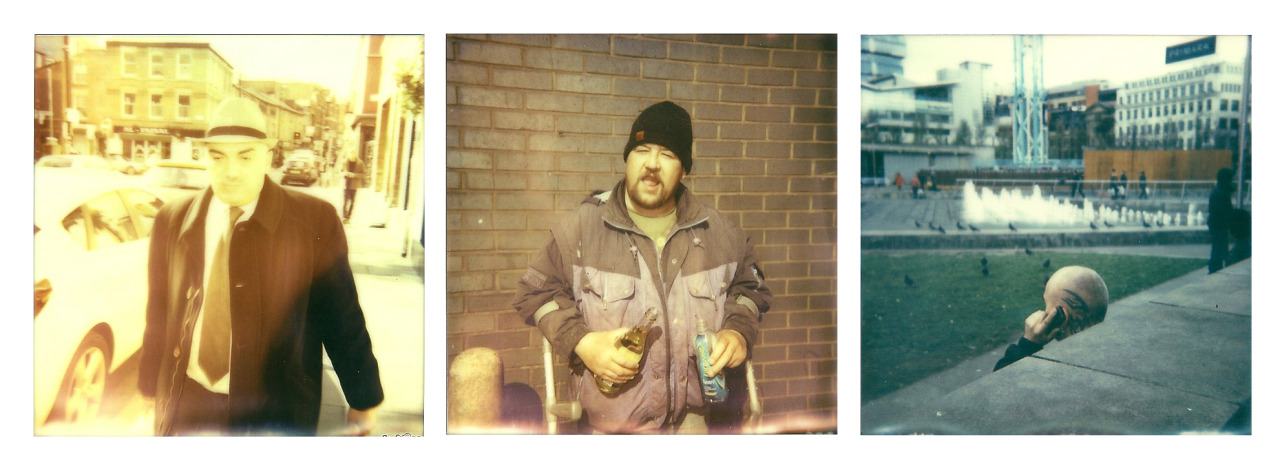 3 polaroids from today in Manchester, that dude was so drunk