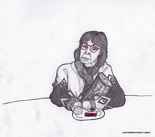 This cherry pie is a miracle. - Log Lady, Twin Peaks. http://justthereceptionist.tumblr.com/