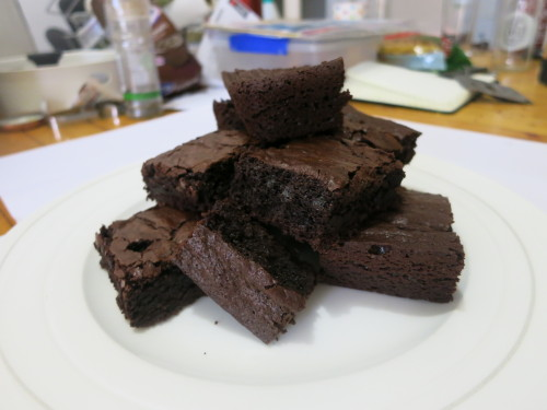 Brownies yo, ignore the blurry mess in the background