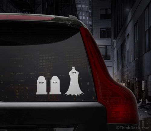 laughingsquid:  Batman Family Car Decal Set