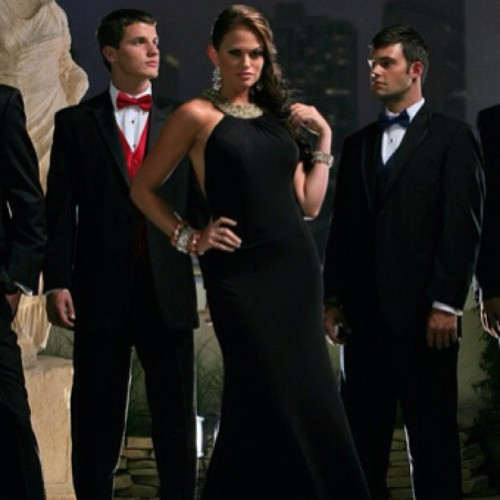 Black Tie Options are Endless #prom #tuxedos #formal #bowties #dresses #blacktie #stunning #formalwear