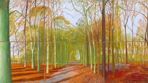 rachela100:  David Hockney, Woldgate Woods, 2006