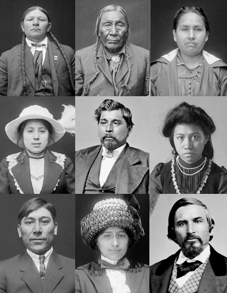 The faces of indigenous assimilation.