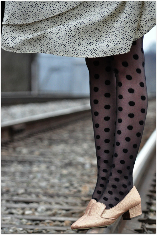 modcloth:  Darling dot tights, worn by Fancy Treehouse.