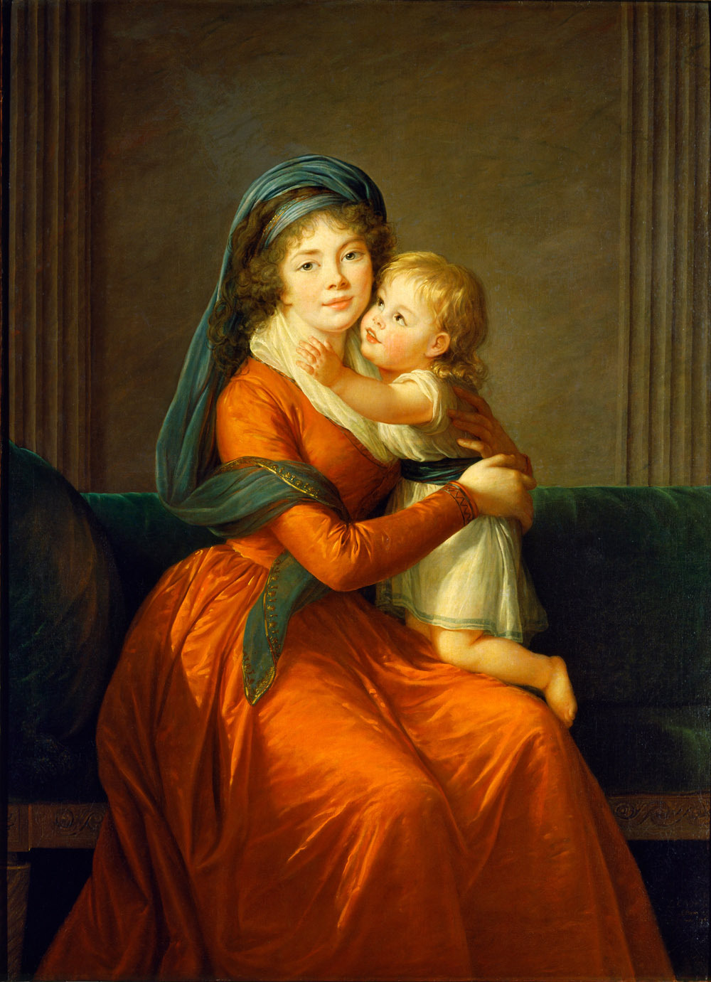 jaded-mandarin:  Portrait of Princess Alexandra Golitsyna and her son, Piotr - Elisabeth Vigee-Lebrun.