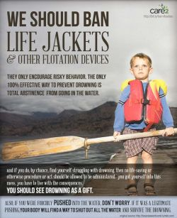 We should ban life jackets.