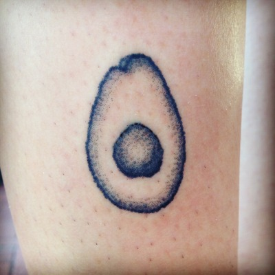 magpiefeed:  Stick and poke avocado on Audrey