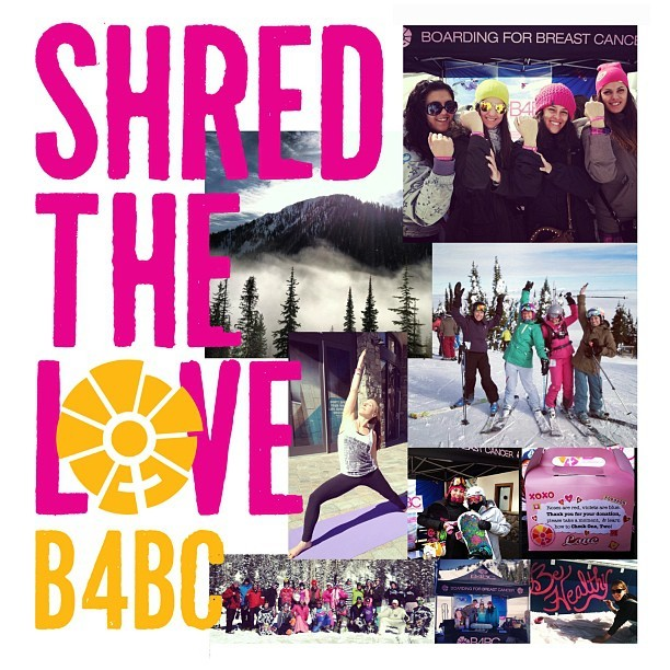 #SHREDTHELOVE // We would like to extend our love & thanks to our 2013 resorts &  community partners & to the thousands of individual fundraisers, participants, & supporters who helped Shred The Love w/ us this winter season! Over $125,000 was fundraised which will not only tremendously impact our programs, but (7) additional breast health non-profit beneficiaries in the communities where events were hosted! We couldn't have achieved this w/out YOU! Much love & gratitude, #B4BC xo