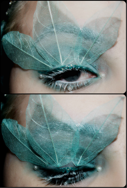 skeleton leaf eyemakeup <3 done by zoe melissa mae makeup :)