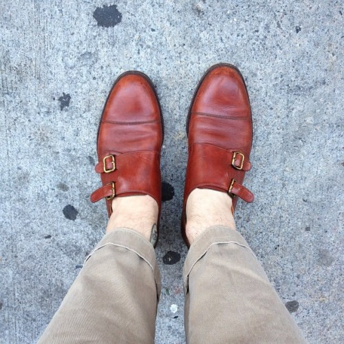 ryanmat:  gucci monks on my feet. thanks @leftofthedial