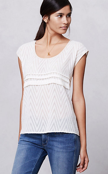 [Isabelline Jacquard Top by Anthropologie]