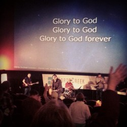 Glory to God forever! worshiping at @NorthCreekLife this morning.  (at AMC Loews Woodinville 12)