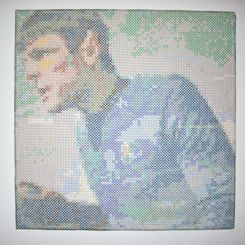 hardcorestitchcorps:  Amazing Spock by Schinders, for the Bad Robot Art Show.