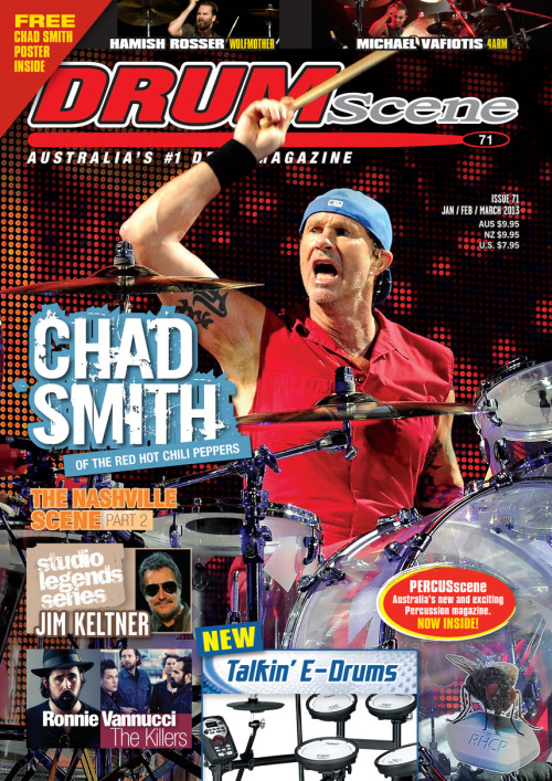 New Chad Smith interview and poster in the current issue of DRUMscene Magazine! Grab your copy now! http://rhcp.me/drumscene