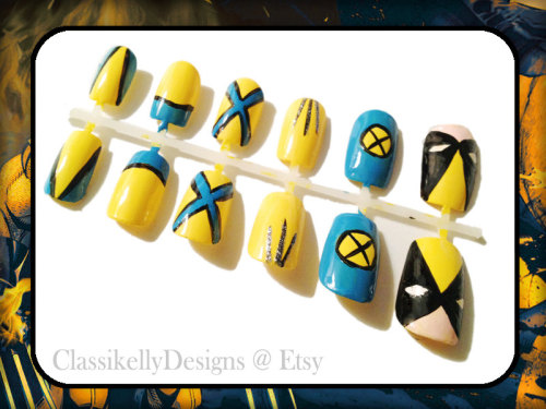 Manicure Monday: Wolverine nail set, by ClassickellyDesigns
