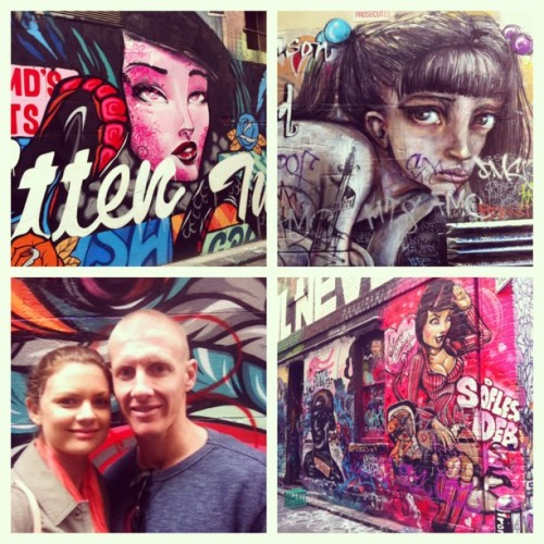 #melbourne #streetart #graffiti #husband #wishtheweekendwouldntend @jtingle  (at Melbourne Airport (MEL))