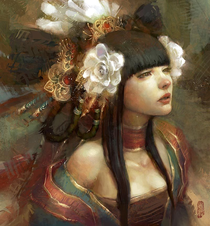 visualprowl:  Flower Elf by Jian Guan