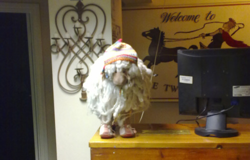 Gnome at the Twice brewed inn