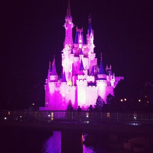 Our view as we ate dinner last night ❤ @leilaofthevalley #disney #magickingdom  (at Cosmic Ray's Starlight Café)