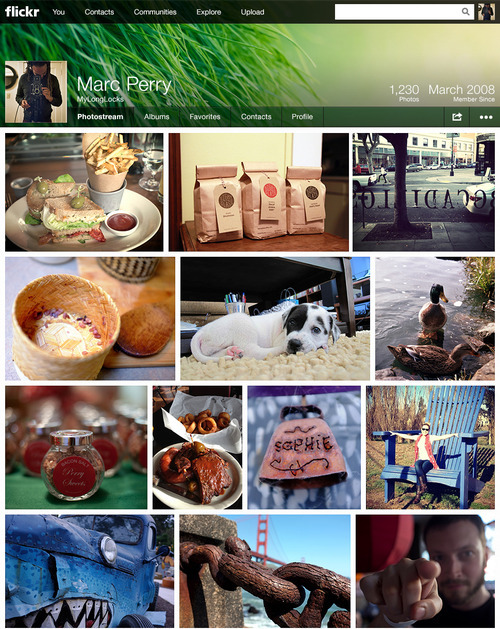 laughingsquid:  Yahoo Redesigns Flickr & Offers One Terabyte of Free Photo Storage  And I'm pretty sure they only did this as a way to try to ensure people that they won't fuck up tumblr.