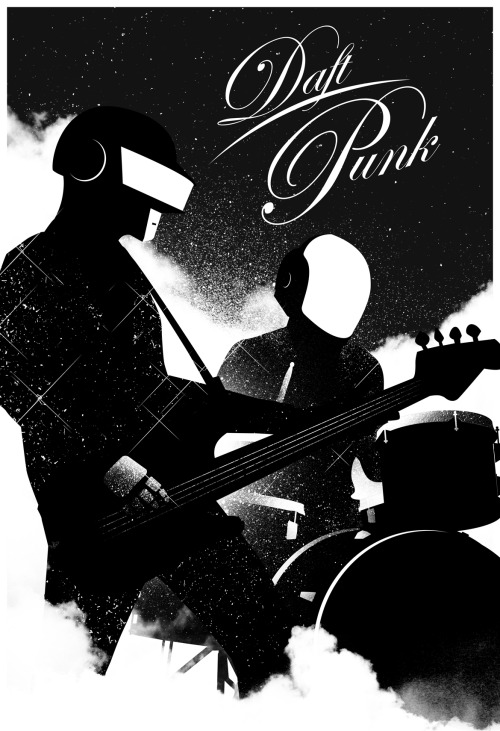 suicideblonde:  Justin VanGenderen's Daft Punk piece from the Daft Punk Inspired Art Show by Gauntlet Gallery