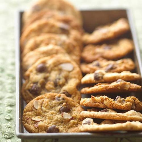 Almond Chocolate Chippers: Salty and sweet come together in this tasty twist on chocolate chip cookies.